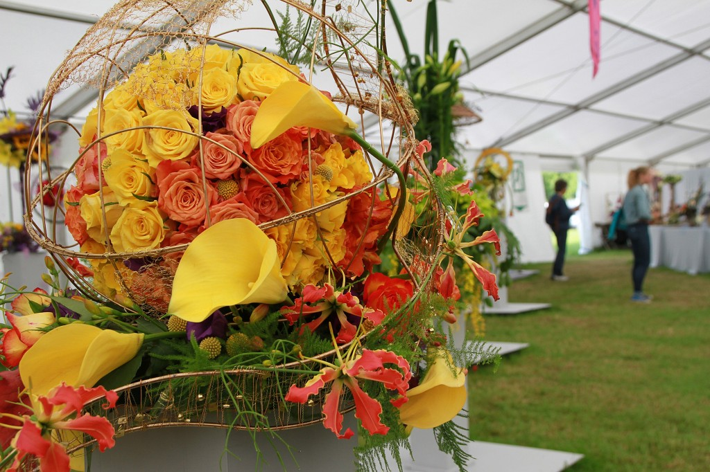 Danger ahead at the royal cheshire county show 39 s nafas flower marquee the royal cheshire - Royal flower show ...