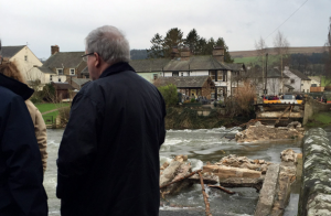 Transport Secretary Patrick McLoughlin at Pooley Bridge in Cumbria