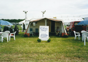 Tony's much-loved tent in 2002