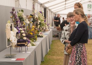 Countess of Wessex inside Flower Marquee 2015 (2)